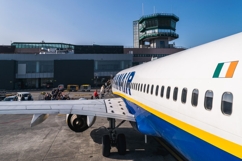 Bologna Airport is a hub for Ryanair.